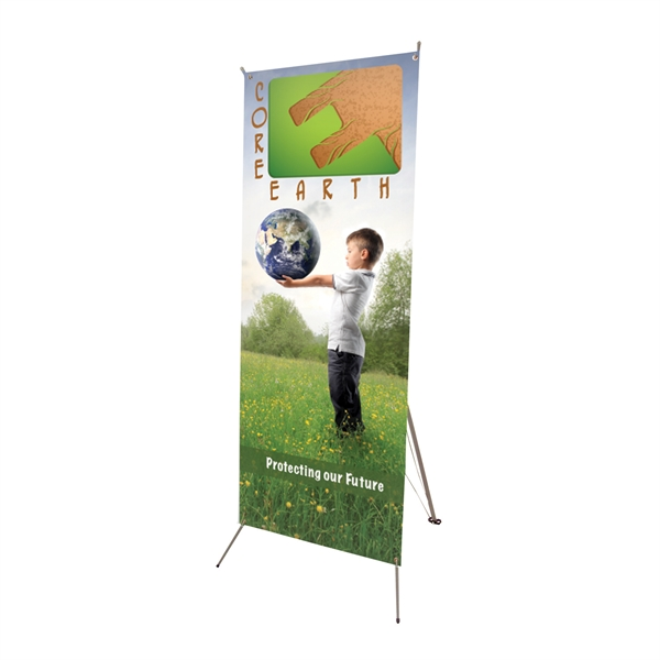 "Promotional Tripod Banner 24"" x 70"" Display Kit"