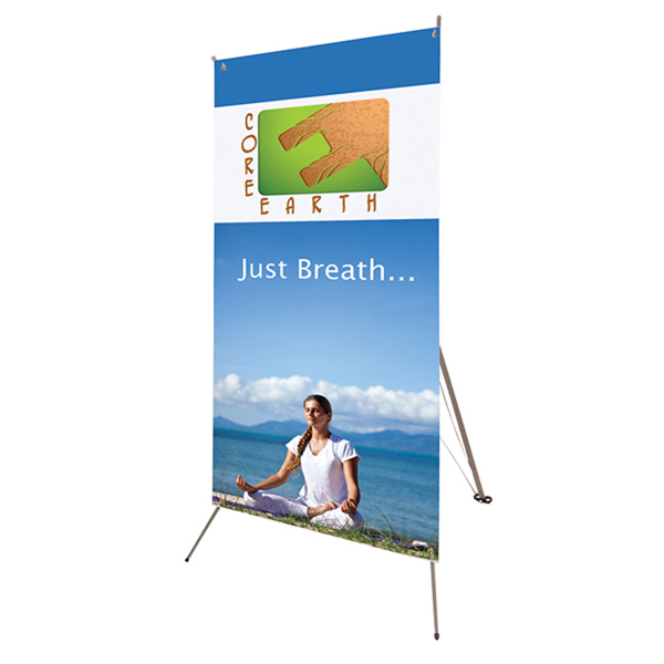 "Imprinted Tripod Banner 32"" x 72"" Display Kit"