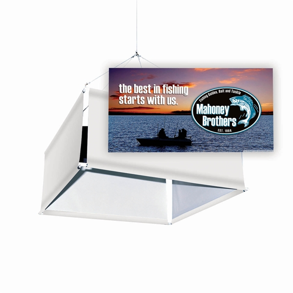 Imprinted Square Steel Hanging Banner Graphics Only