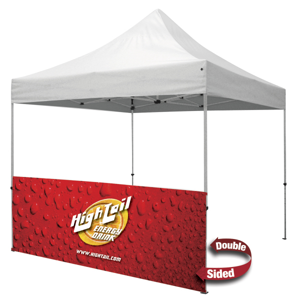 Printed ShowStopper 10' Tent Double-sided Half Wall Kit
