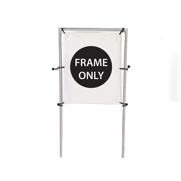 Custom In-Ground Banner Frame Single Display Hardware Only