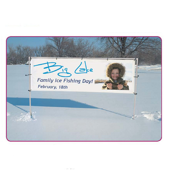 Imprinted In-Ground Banner Frame Single Display Kit