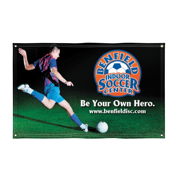 Imprinted Super Poly Knit Single-Sided Fabric Banner