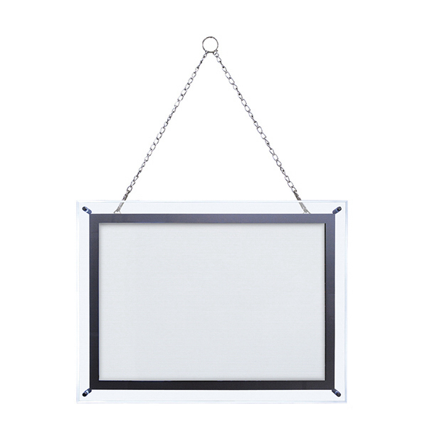 Customized 14-inch x 20-inch Crystal Edge Light Box Hardware Only