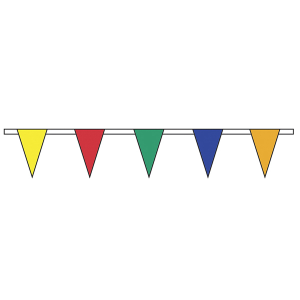 Imprinted Multi Color Standard Pennant String