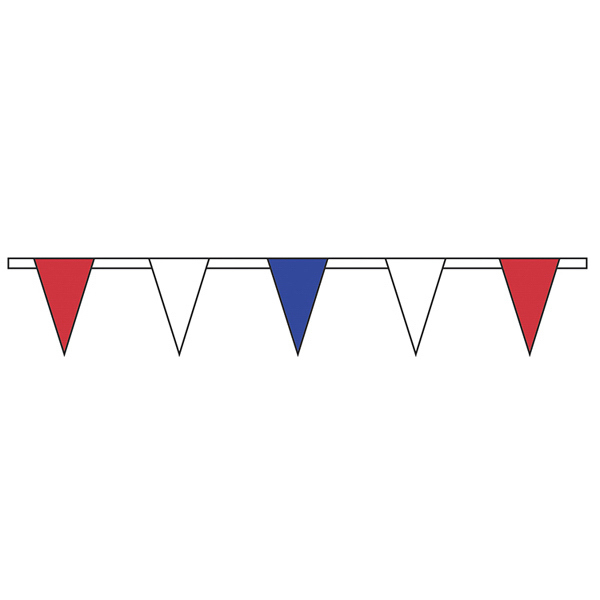 Custom Red/White/Blue Standard Pennant String
