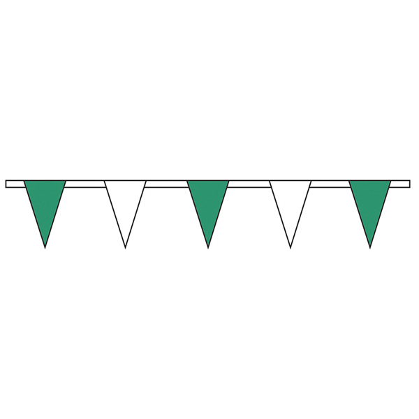 Customized Green/White Standard Pennant String
