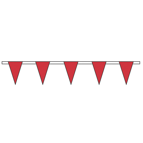 Printed Red Standard Pennant String