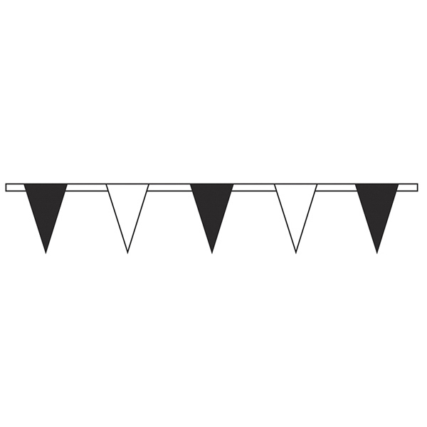Customized Black/White Standard Pennant String