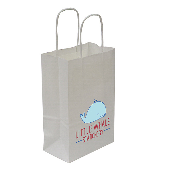 Printed Kraft Shopper Full-Color Transfer