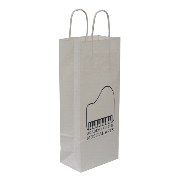 Printed Kraft Shopper 1-Color Hot Stamp Foil