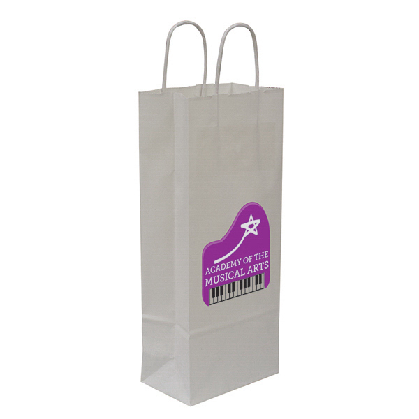 Custom Kraft Shopper Full-Color Transfer