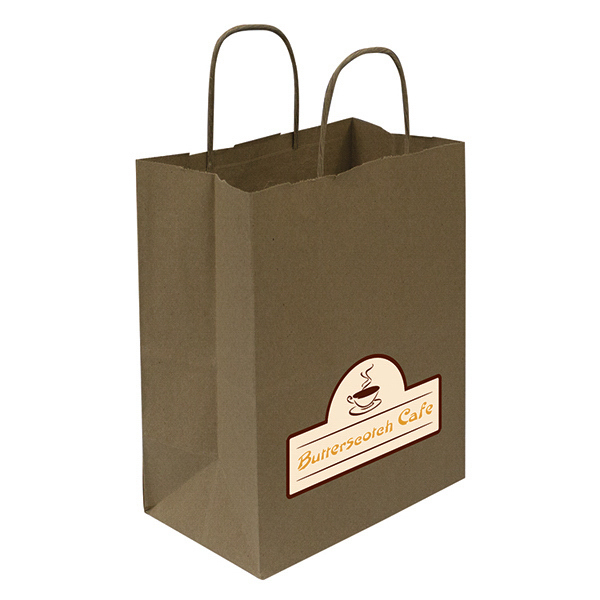 Customized Kraft Shopper Full-Color Transfer