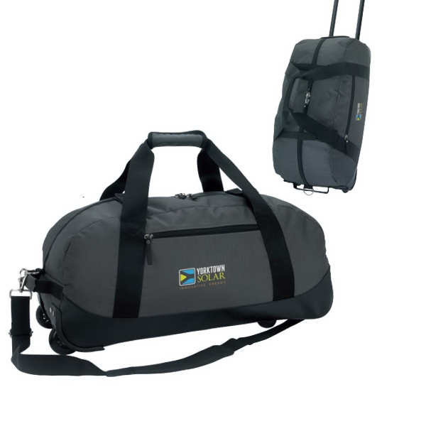 Imprinted Deluxe Wheeled Duffel