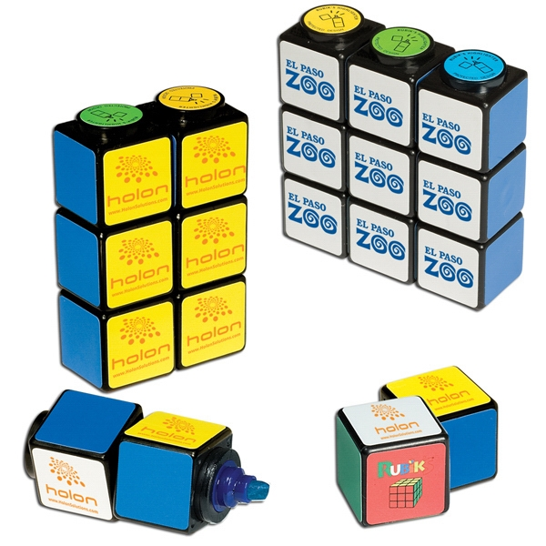 Customized Rubik's Cube (R) Highlighter Set With Magnets