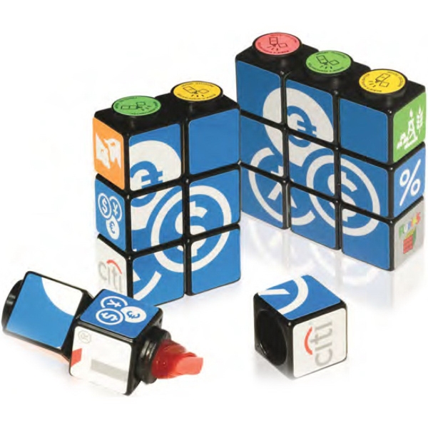 Printed Custom Rubik's (R) Highlighter Set With Magnets