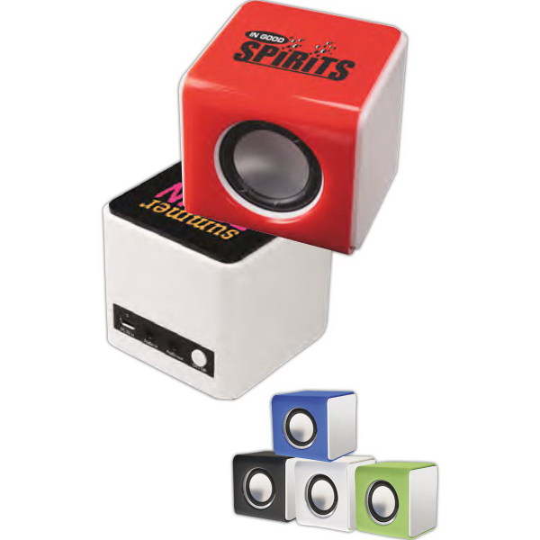 Imprinted Bluetooth (R) Power Cube Speaker