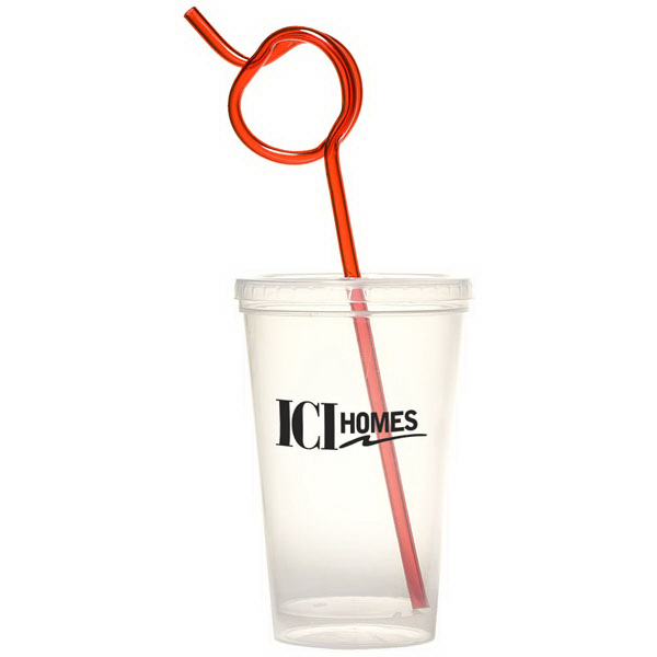 Personalized Apple Krazy Straw Sipper