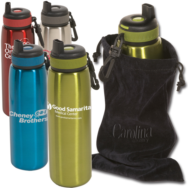 Promotional Click 'N Sip bottle With Pouch