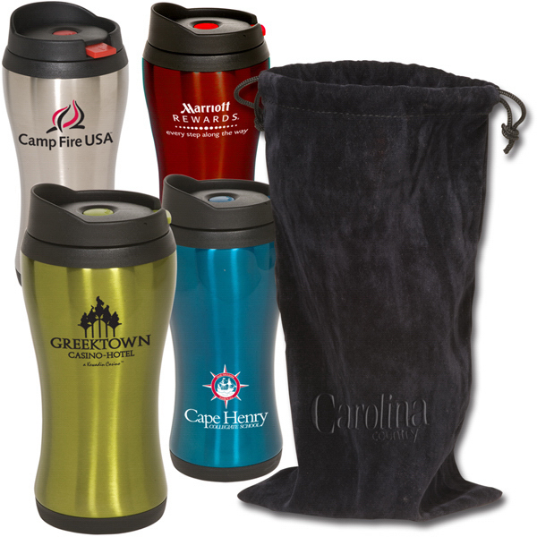 Promotional Click 'N Sip Tumbler With Pouch