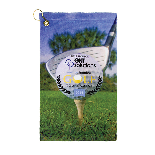 Personalized Subli-Cotton Terry Velour Golf Towels
