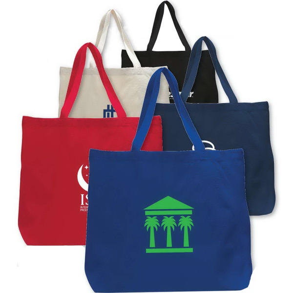 Imprinted Canvas Jumbo Tote Bag