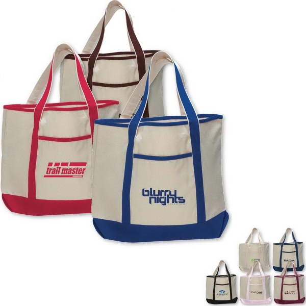 Printed Large Canvas Deluxe Tote Bag