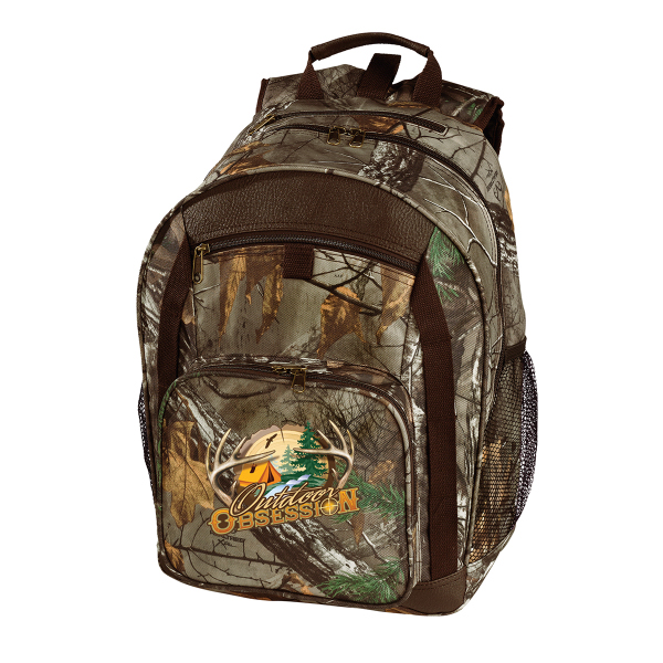 Imprinted Camo Backpack