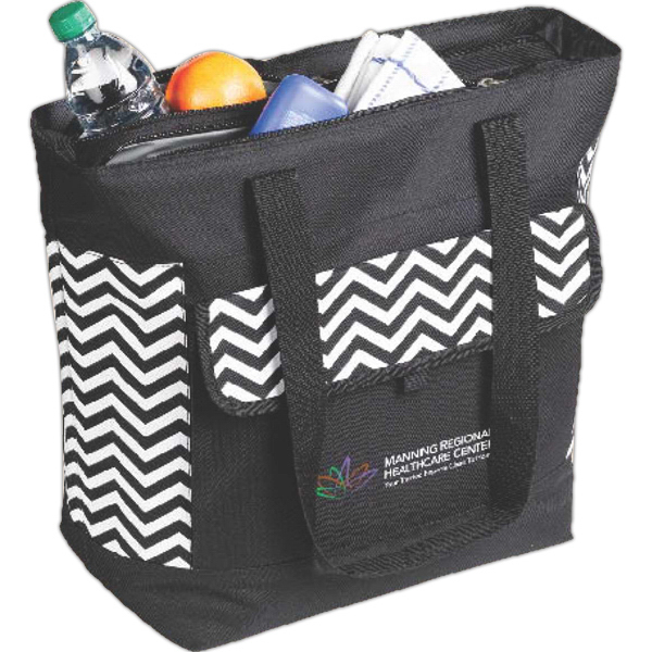 Personalized Double Compartment Cooler Tote