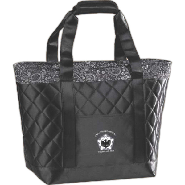 Customized Satin Paisley Cooler Tote