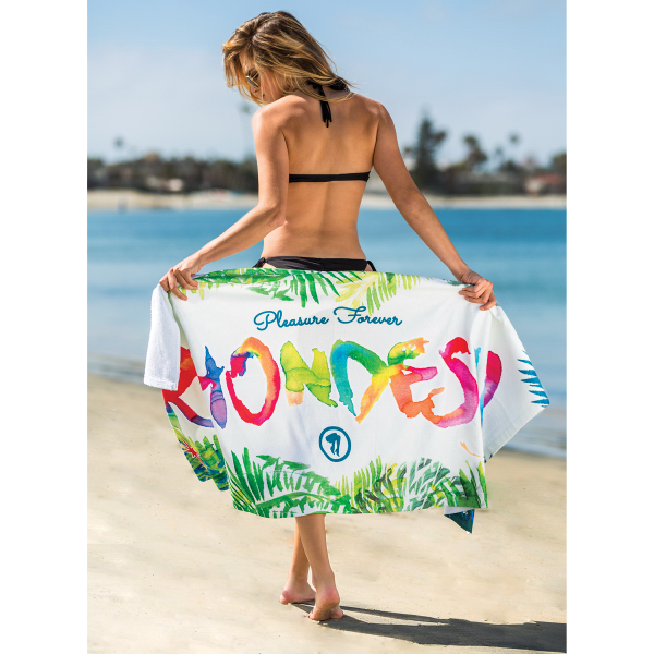 Printed Subli-Cotton Terry Beach Towel