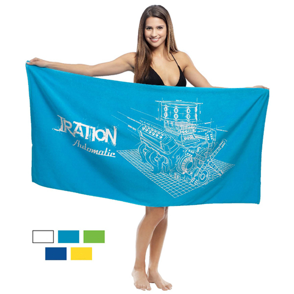 Customized Promotional Velour Beach Towel