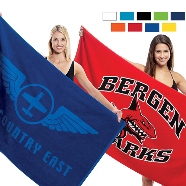 Promotional Terry Velour Beach Towel