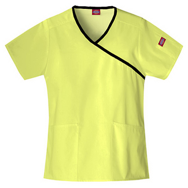 Promotional SA815206 Dickies Mock Wrap Scrub Top