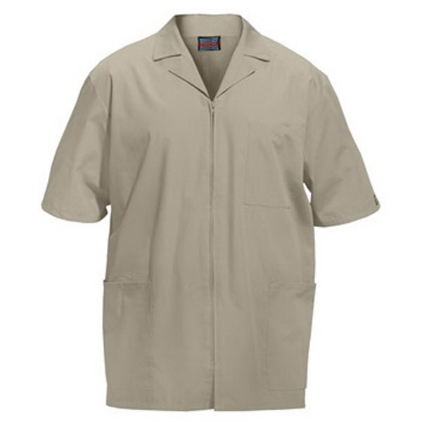 Personalized SA4300 Men's Zip Front Scrub Jacket