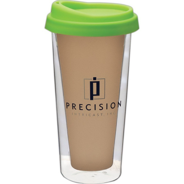 Promotional 12 oz. Double Wall Glass