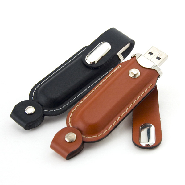 Customized Leather USB Drive 300 Global Saver