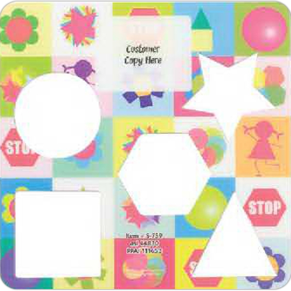 Promotional Laminated Learn Your Shapes Stencil