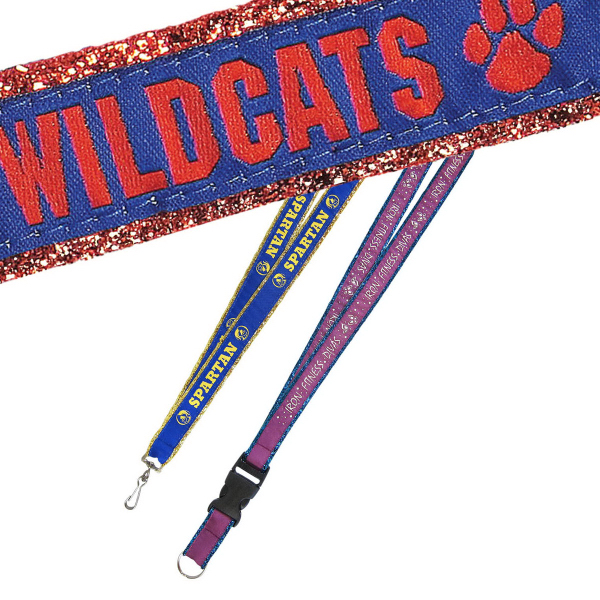 Glitter Ribbon Custom Woven Lanyards