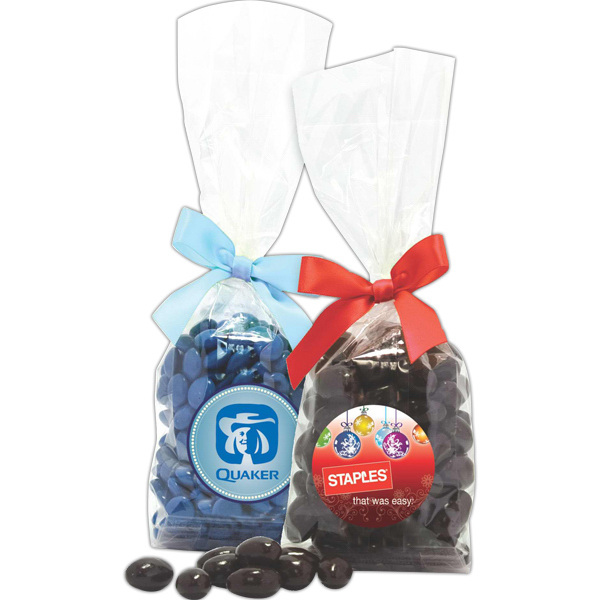 Printed Candy in stand up bag with bow