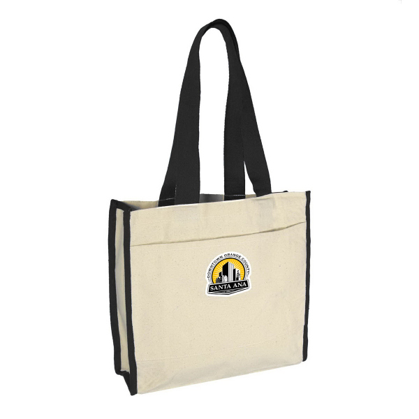 Gusset Tote Bag w/ Color Handles