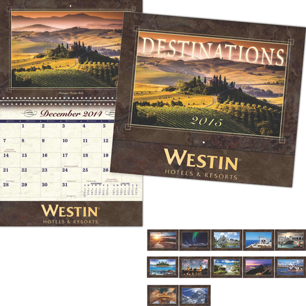 Customized Coronado Collection Destinations Wall Calendar