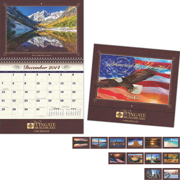 Custom Coronado Collection America the Beautiful Wall Calendar