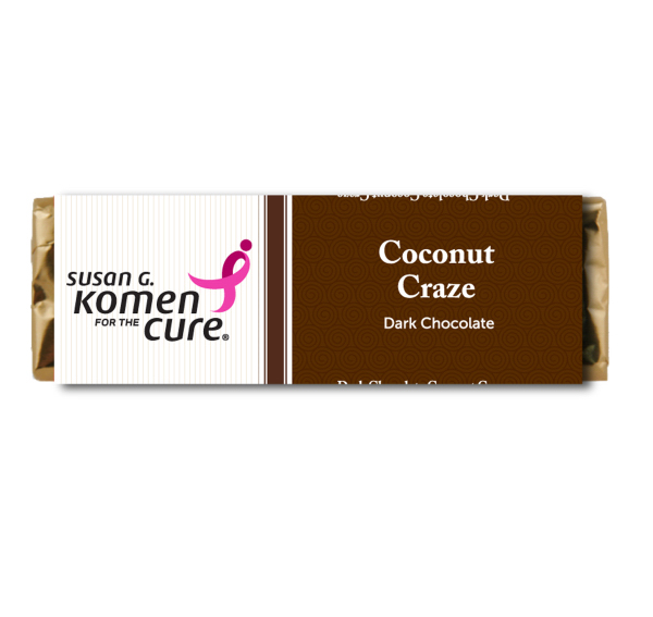 Chocolate Bar Coconut Flavor - Dark Chocolate Candy Bar