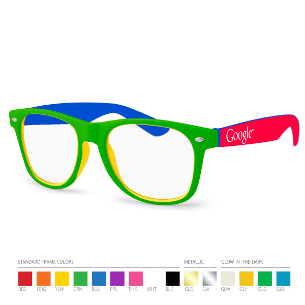 Multicolor Sunglasses w/ Side Imprint. No Setups!