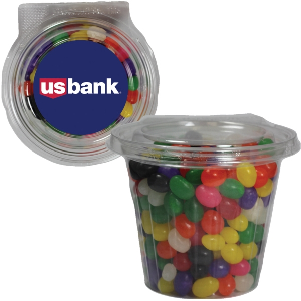 Round Safe-T Fresh Container With Candy Jelly Beans