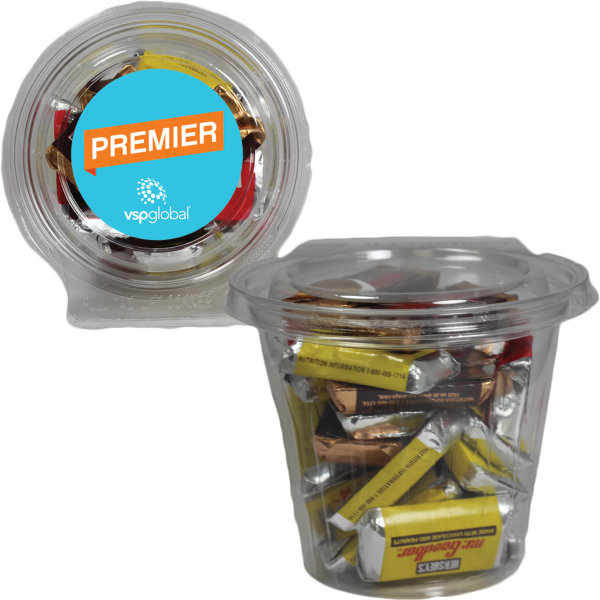 Round Safe-T Fresh Container W/ Hershey Mini Bars