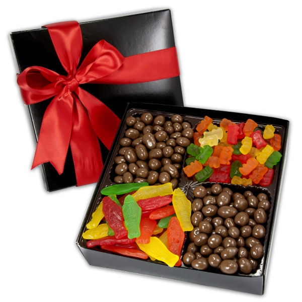 Imprinted 4 Cavity Gift Box with Gourmet