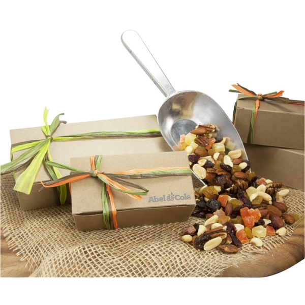 Customized Large Natural Kraft Box with Deluxe Trail Mix