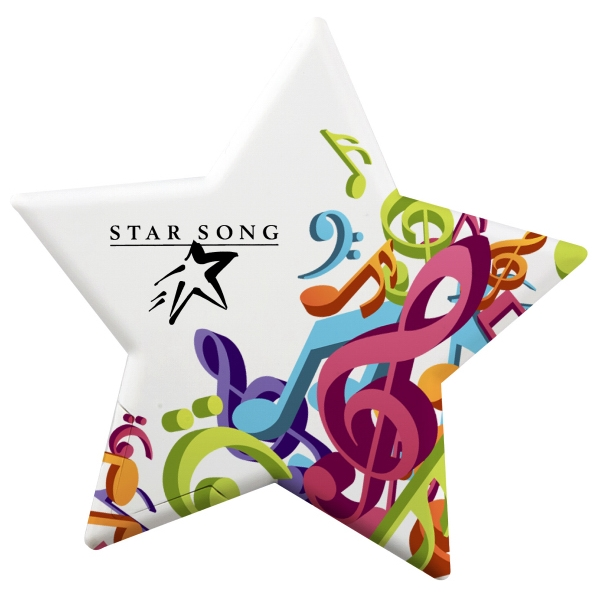 Imprinted Star Shaped Mint Card